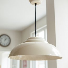 Retro Pendant Light - Cream