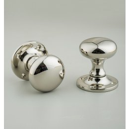 Cushion Door Knobs (Pair) - Polished Nickel