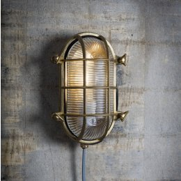 Brass Bulkhead Light - save 15%