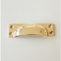 Cast Drawer Pull (Small)- Brass