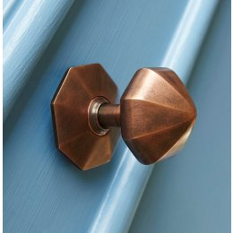 Pointed Octagonal Door Pull - Autumn Bronze