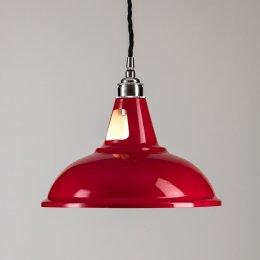 Factory Pendant Light - Red