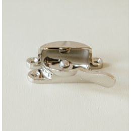 Fitch Sash Window Fastener - Polished Nickel