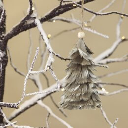 Feather Tree Decoration - Grey save 70%