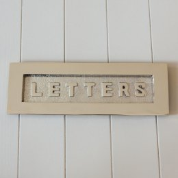 'LETTERS' Large Letterplate in Polished Nickel - SAVE 20%