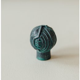 Lotus Bud Cabinet Knob from Turnstyle (Box of 6) - Verdi Gris