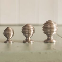 Reeded Cabinet Knob - Satin Nickel - SAVE UP TO 20%
