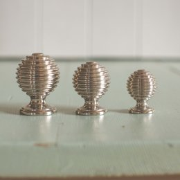 Reeded Cabinet Knob - Polished Nickel - SAVE UP TO 20%