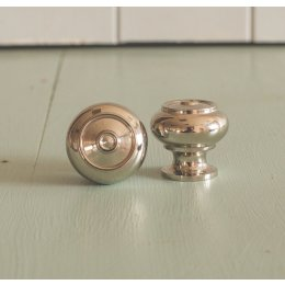 Regency-Style Small Cabinet Knob - Nickel