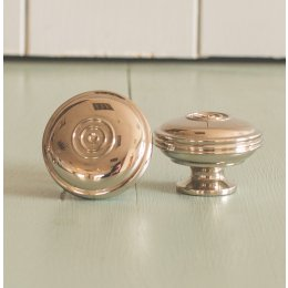 Regency-Style Large Cabinet Knob - Nickel