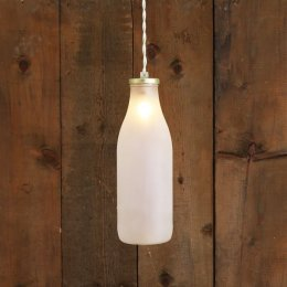 Milk Bottle Pendant Light