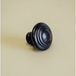 Natural Smooth Cabinet Knob - Black