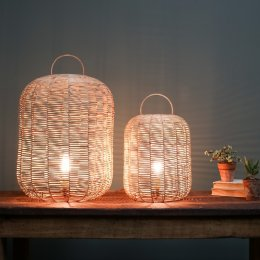 Handwoven Wicker Lamp