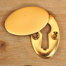 Oval Covered ' Braemar' Escutcheon - Brass
