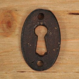 Oval Forged Escutcheon - Black SAVE 50%
