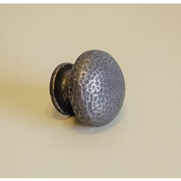 Pin Hammered Cabinet Knob - Patine