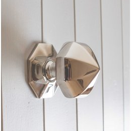Pointed Octagonal Door Pull- Polished Nickel
