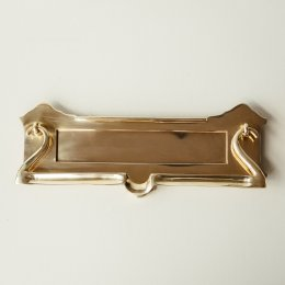 Postal Letterplate - Brass