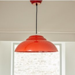 Retro Pendant Light - Red