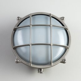 Round Nickel Bulkhead Light