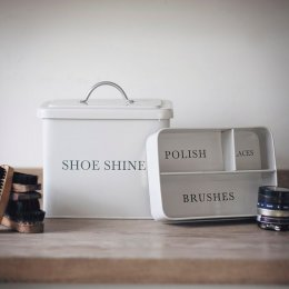 Shoe Shine Tin - Chalk