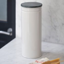 Spaghetti Canister with Marble Top