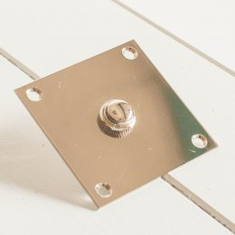 Square Bell Push - Polished Nickel