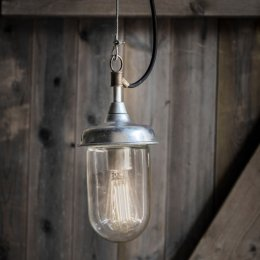 St Ives Galvanised Harbour Outdoor Pendant Light