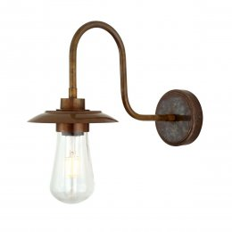 Swan Neck Wall Light in Antique Brass - SAVE 20%
