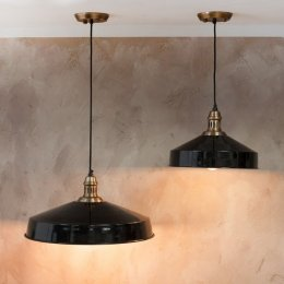 Vintage Pendant Light - Black