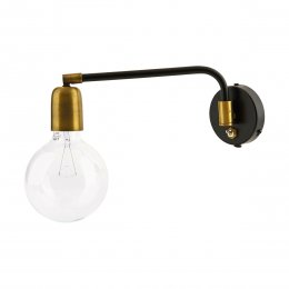 Black & Iron Wall Light