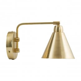 Wall Lamp, Brass/White