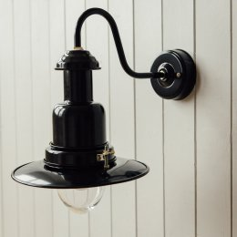 Wall Mounted Fishing Light - Black
