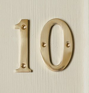 House Number '1'  - Brass