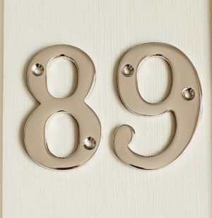 House Number '9' - Nickel