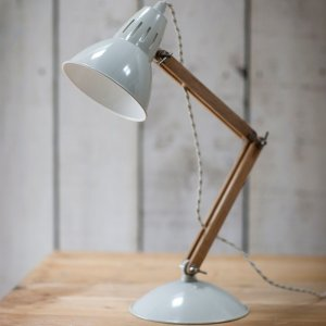 Steel & Oak Table Light - Chalk save 15%