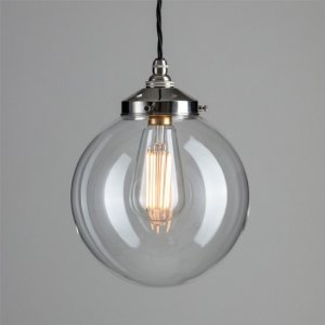 Globe Pendant Light - Polished Nickel