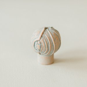 Lotus Bud Cabinet Knob from Turnstyle (Box of 6) - Terracotta Blue SAVE 50%