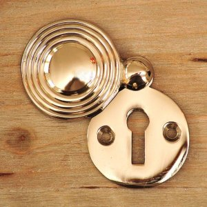 Round Reeded Beehive Escutcheon - Nickel