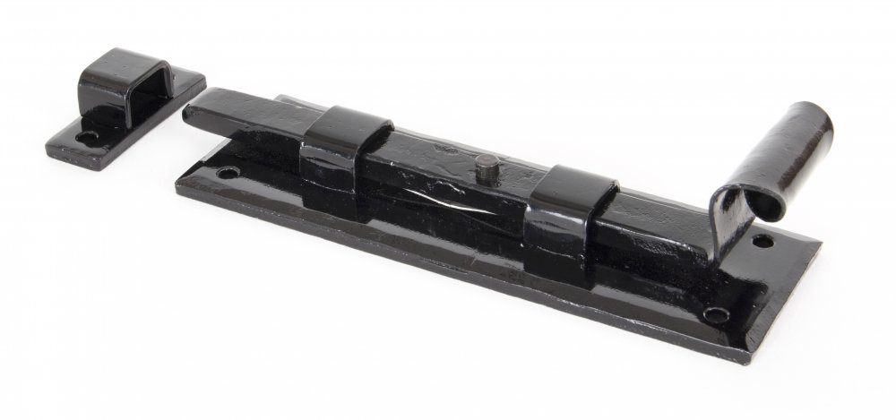 Black 6'' Straight Door Bolt image