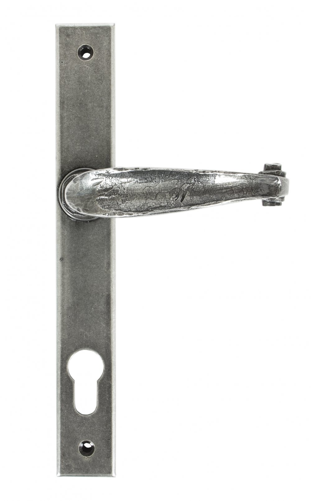 Pewter Patina Cottage Slimline Lever Espag. Lock Set image