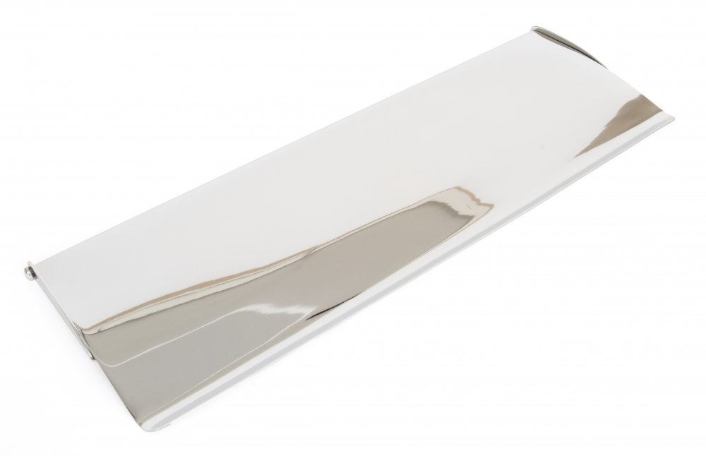 Polished Chrome Letterplate Cover - Large image