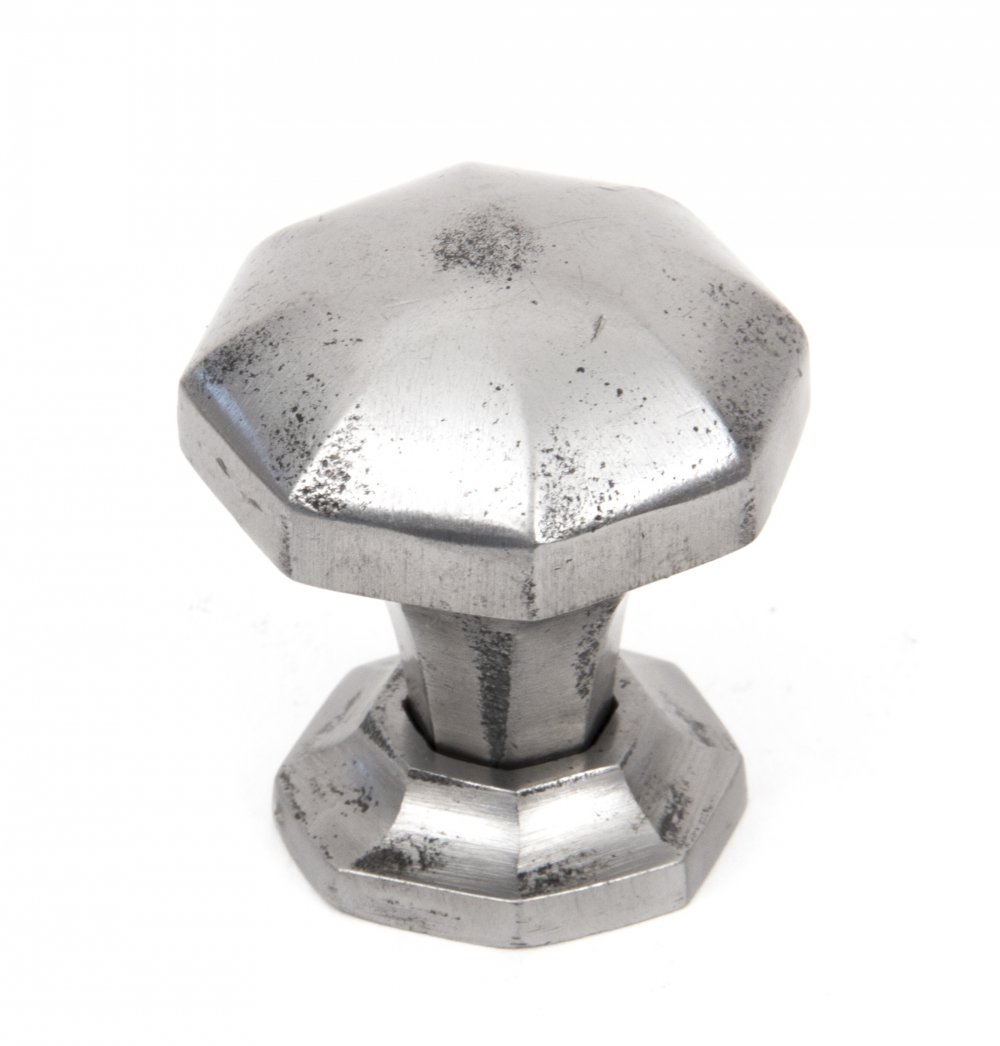 Natural Smooth Octagonal Cabinet Knobs - Small image