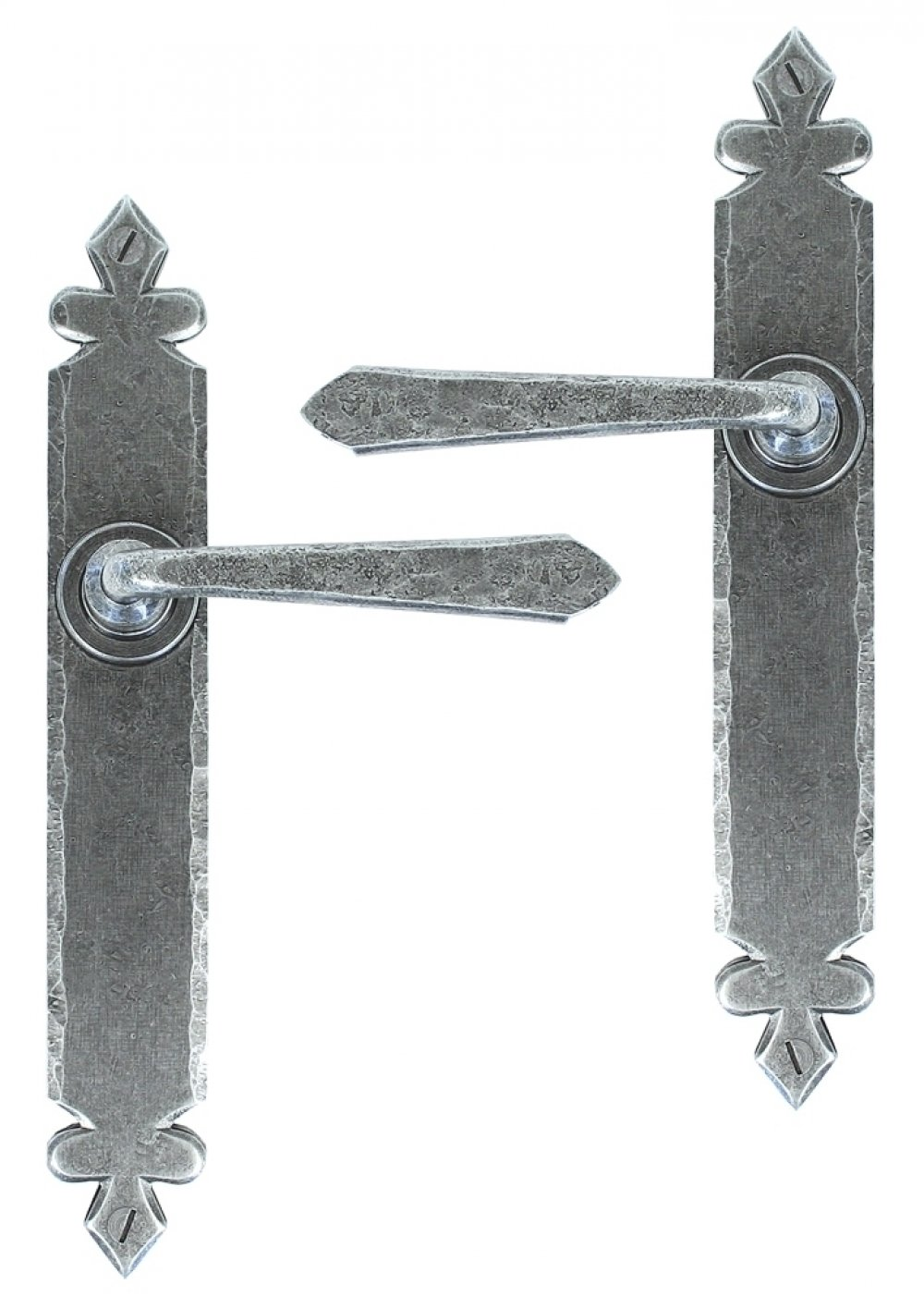 Pewter Cromwell Sprung Lever Latch Set image