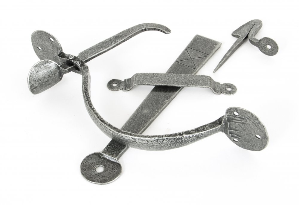 Pewter Heavy Bean Thumblatch image