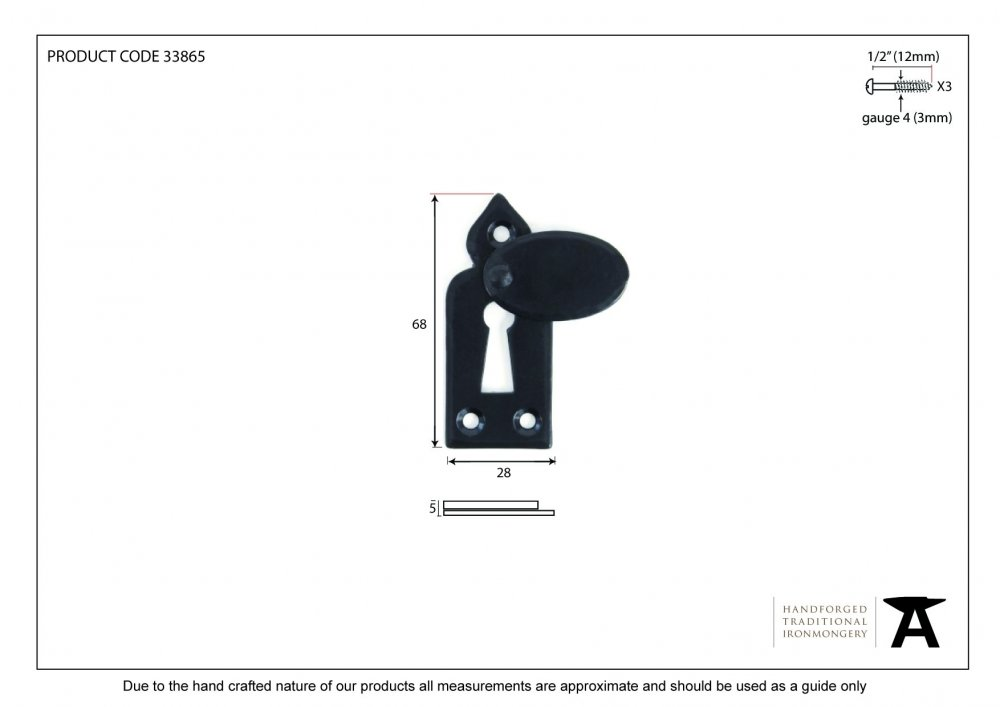 Beeswax Gothic Escutcheon & Cover image