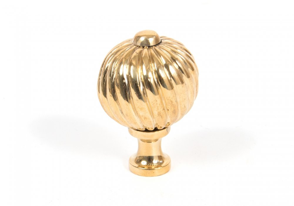Polished Brass Spiral Cabinet Knob - Medium image