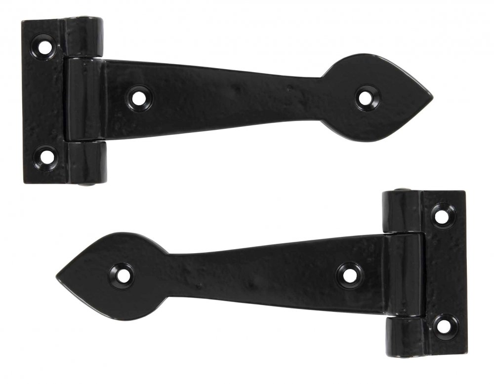 "Black Smooth 6"" T Hinge (pair) image"