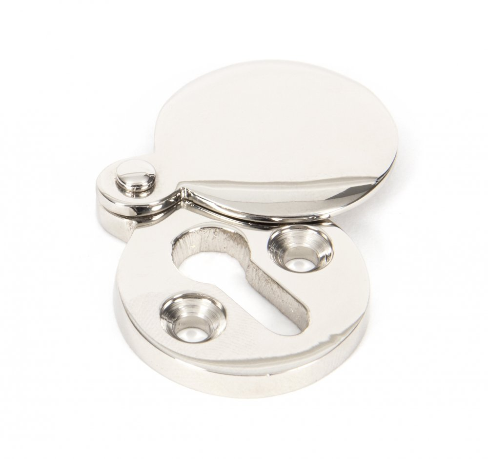 Polished Nickel Round Escutcheon image
