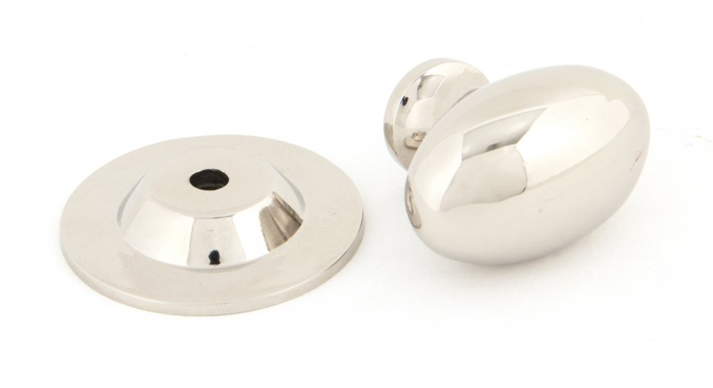 Polished Nickel Oval Cabinet Knob - Small image